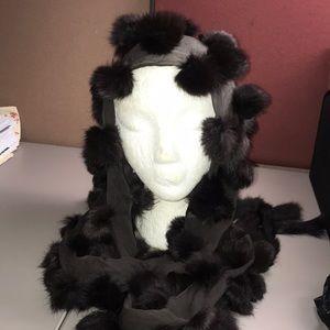 Genuine silk & fur Wrap/Scarf